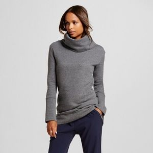 Merona | Ribbed Cowl Neck Tunic Sweatshirt